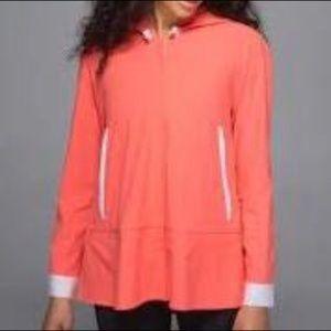 grapefruit neon orange Sun Shower flare rain coat